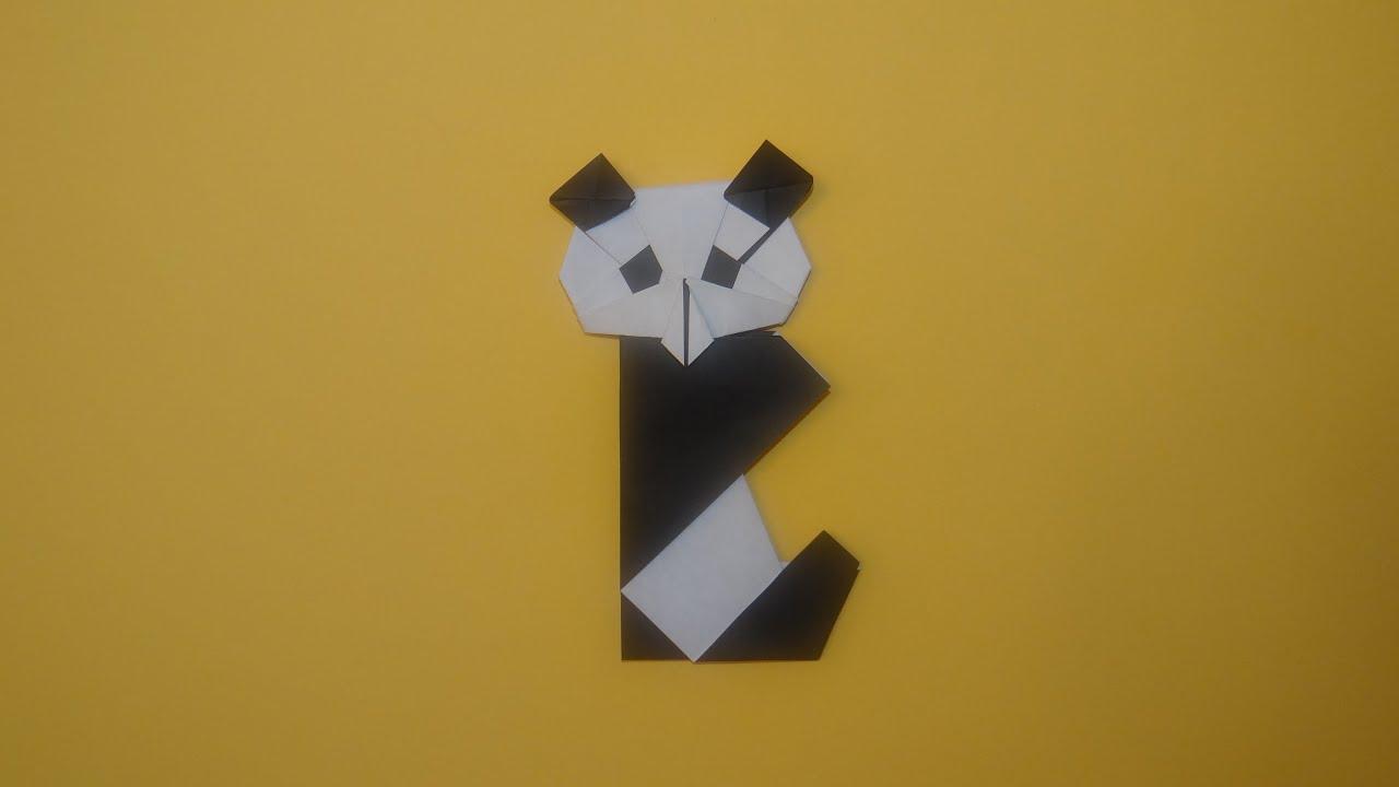 how to make an origami panda youtube