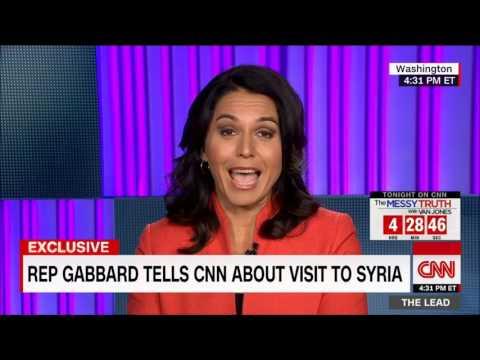 (голосовой перевод) Вернувшаяся из Сирии Тулси Габбард загоняет в угол журналиста CNN