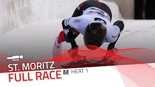 St. Moritz | BMW IBSF World Cup 2016/2017 - Men's Skeleton Heat 1 | IBSF Official