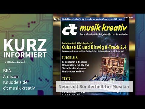 BKA, Amazon, Knuddels.de, c't musik kreativ | Kurz informiert vom 22.11