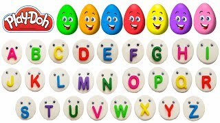 Learn ABC & Colors with Surprise eggs Play Doh ABC Song Kids Video
