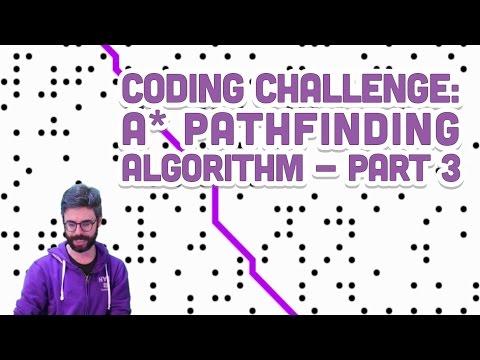 Coding Challenge 51.3: A* Pathfinding Algorithm - Part 3