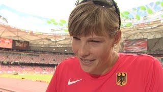 WCH 2015 Beijing - Nadine Müller GER Discus Throw Qualification