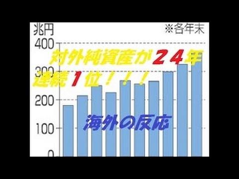 【海外の反応】対外純資産が24年連続日本が1位!!! - YouTube