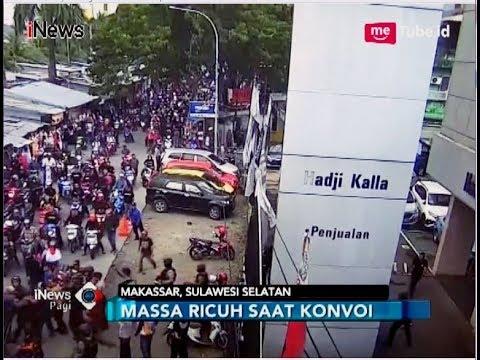 Showroom Jusuf Kalla Kena Lemparan Batu Pendukung Paslon Pilwalkot Makassar - iNews Pagi 30/04