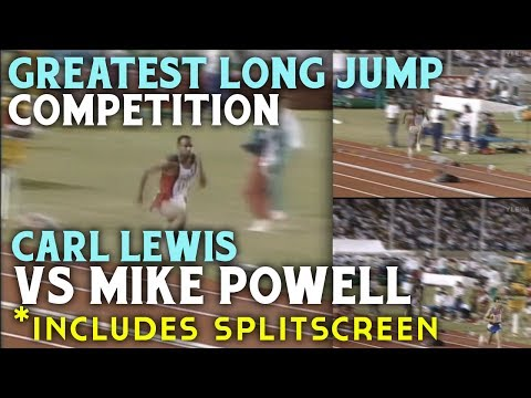 Greatest Long Jump Competition - Carl Lewis vs Mike Powell - Inlcudes Split screen Analysis