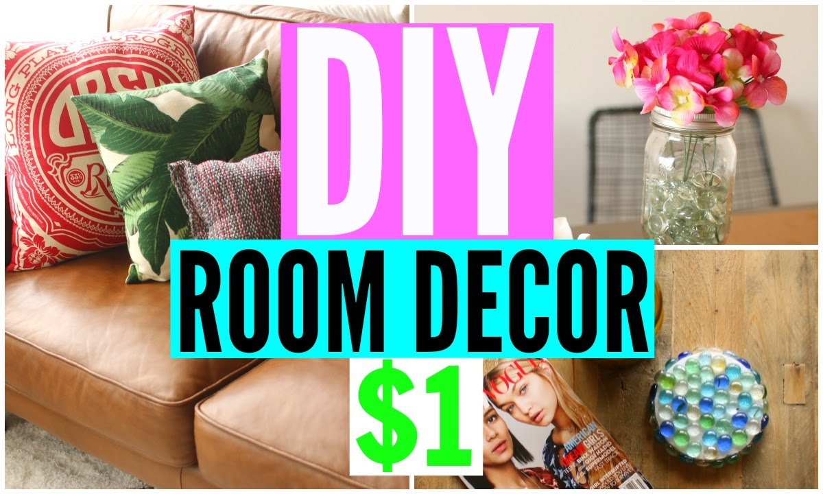 Diy room decor from the dollar store cheap room decorations youtube - Dollar store home decor ideas pict ...