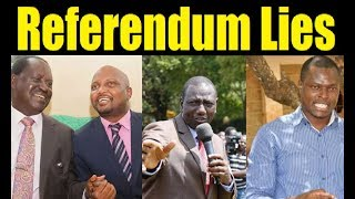DP Ruto Agenda Hidden By Referendum Lies