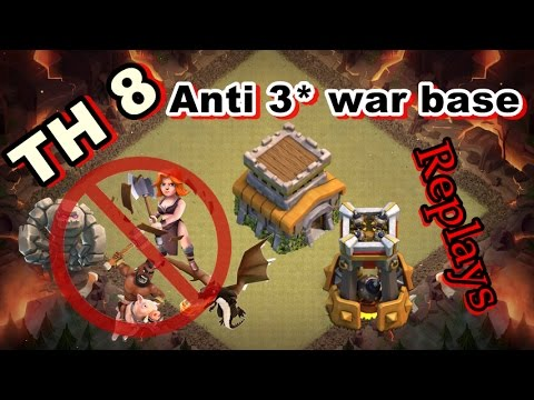 🛡CLASH OF CLANS - Town hall 8 (TH8) War base - Anti valk - anti hog - anti drag - proof REPLAY  NEW