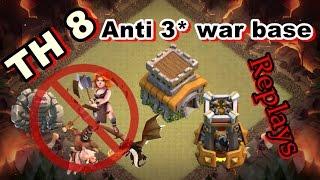 🛡CLASH OF CLANS - Town hall 8 (TH8) War base - Anti valk - anti hog - anti drag - proof REPLAY  NEW