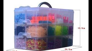 Rainbow loom цветные резиночки для плетения  с Aliexpress   распаковка и обзор
