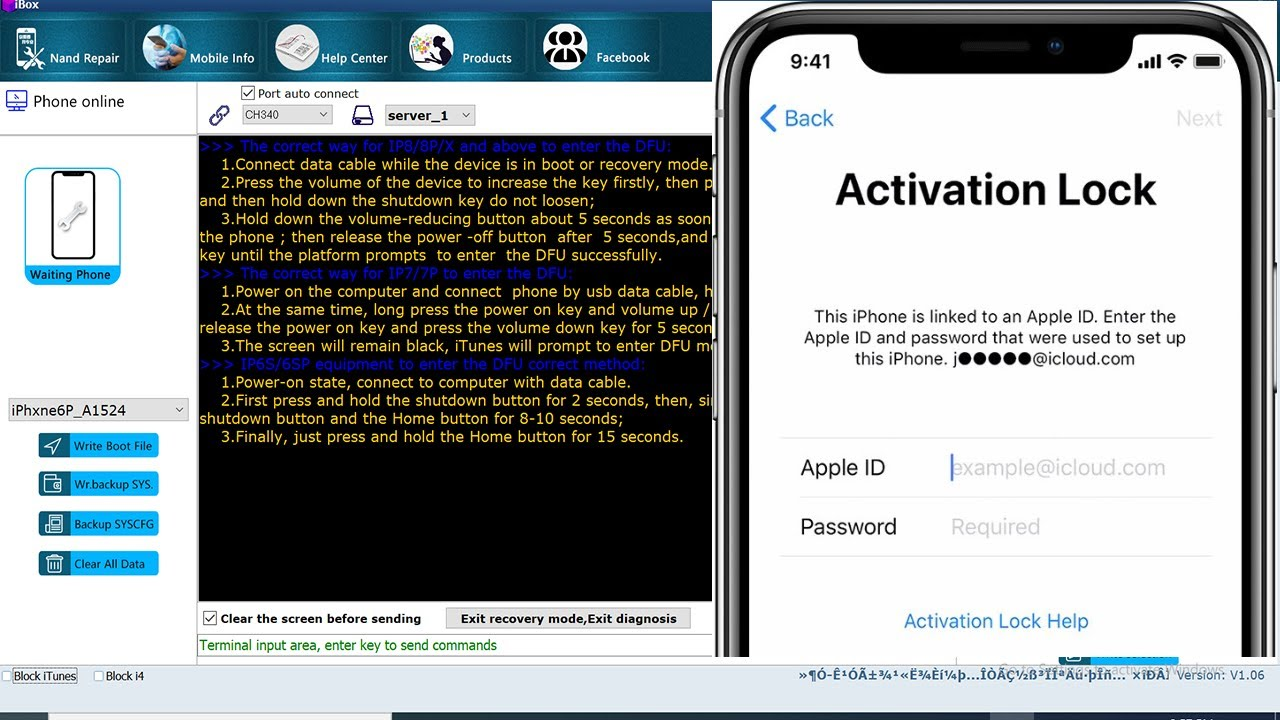 How to Unlock iCloud activation Lock Using iBox Software 2020