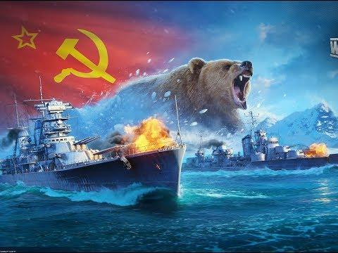 Смотреть World Of Warships / Москва + пермофляж/ В поисках 20 000 000 + Революция/ Ленинград онлайн