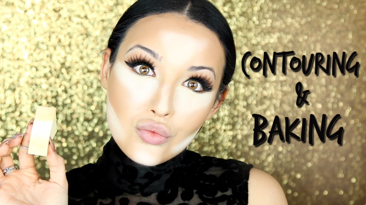 Cream Contour & Highlight + Baking Makeup Tutorial