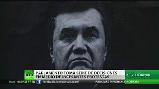 Ucrania: El nuevo poder quiere que un tribunal internacional juzgue a Yanukóvich 2017 Video