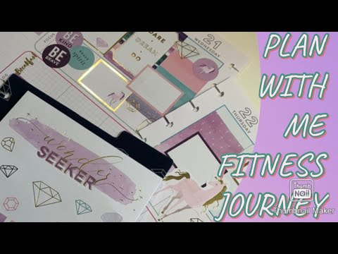 FITNESS HAPPY PLANNER | BE A UNICORN 🦄 | PLAN WITH ME thumbnail