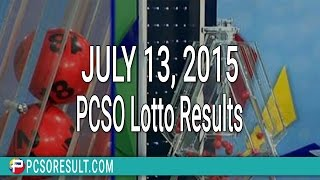 PCSO Lotto Results July 13, 2015 (6/55, 6/45, 4D, Swertres & EZ2)
