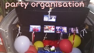 How to organise party in car  /great idea just for u guys /diksha creativity corner