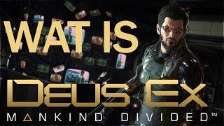 Deus Ex is n van de grootste en populairste series in het actieRPG genre Mankind Divided is het nieuwste deel in deze reeks en de directe opvolger van het