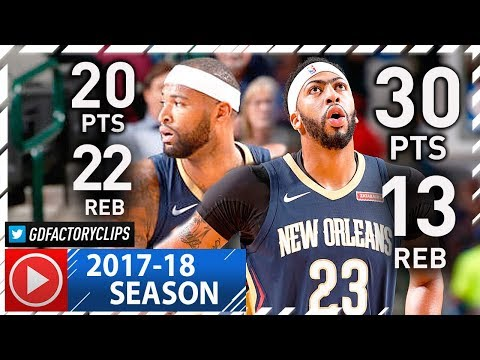 DeMarcus Cousins & Anthony Davis Full Highlights vs Mavericks (2017.11.03) - 50 Pts, 35 Reb Total