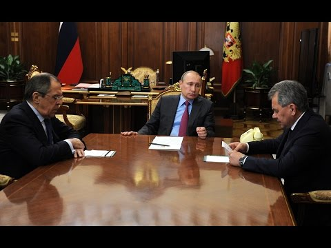 Vladimir Putin. Meeting with Sergei Lavrov and Sergei Shoigu (Eng Sub)