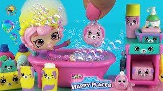 Ванная комната Петкинс и кукла Мебель для дома ШОПКИНС БОКС Игровой набор для девочек Happy Places