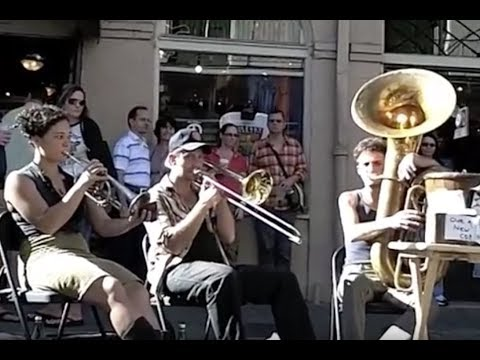 Trombone, Trumpet, Tuba, Washboard, Guitar & Vocal Performance by Tuba Skinny @ French Quarter, La