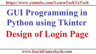 How to create a graphical register and login system in