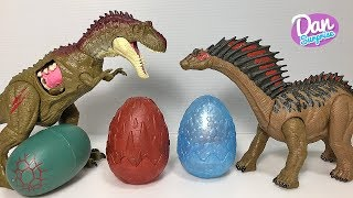 Hatching new Dinosaur Eggs Toys with Jurassic World Dinosaur Toys Fun Video!