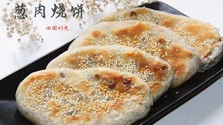 葱肉烧饼 太好吃了Crispy Savoury Pancakes(中文版)【田园时光美食】