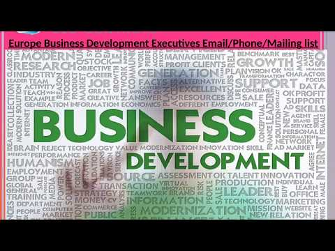 Europe Business Development Executives Email Phone