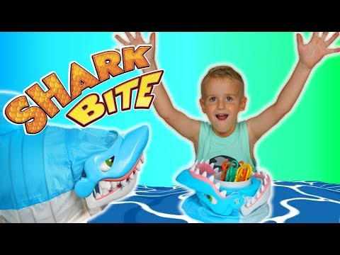 Family Game Night  Let's Go Fishing With Shark Bite Game For Kids!