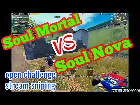 Mortal,Aman VS Soul Nova,Iconic,Pothead||open challenge stream sniping #mortal #novaking #pubgmobile
