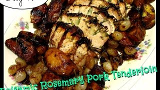 Balsamic Rosemary Pork Tenderloin with Potatoes & Pearl Onions DAY 187