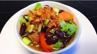 How To Make Kidney Bean Soup (brenebon Soup) / Cara Membuat Sup Kacang Merah