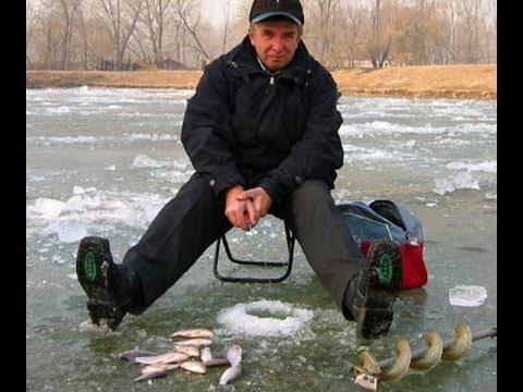 зимняя рыбалка на льду видео