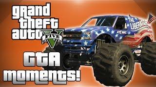 GTA 5 Online Funny Moments! - Independance Day DLC Fun, Rollercoaster Glitch, Liberator Bumper Cars!
