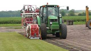 Sod Harvester in Action