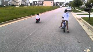 Willie baker jr 3years old amazing motorcycle ride