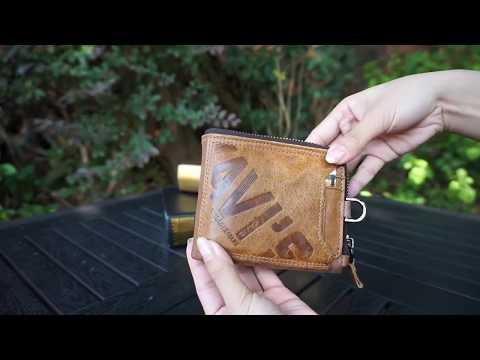 Мужское кожаное портмоне Kavis коричневое