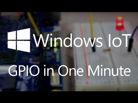 Windows On Devices: GPIO in One Minute