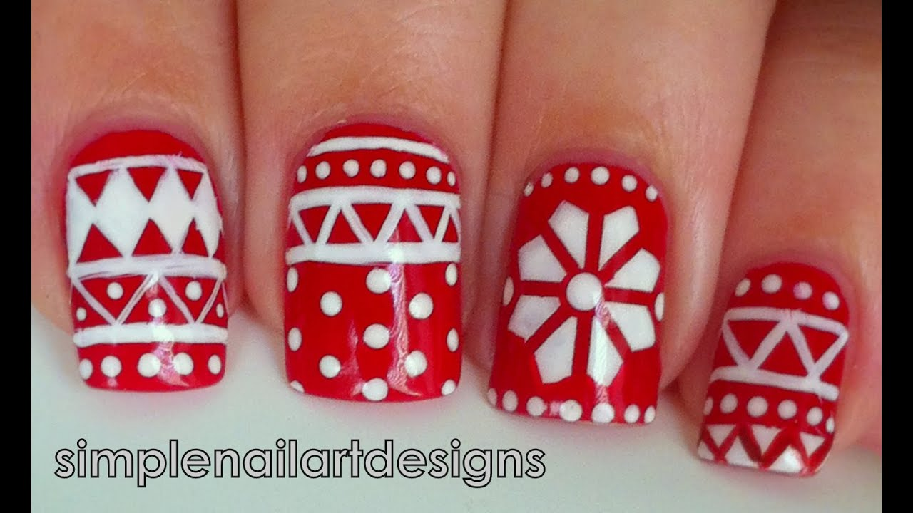 Holiday Sweater Nail Art Tutorial Youtube