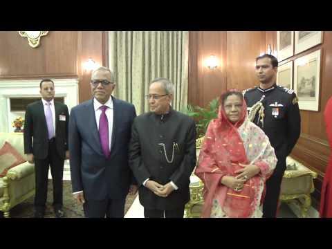 Call On ( The President of Bangladesh) at Rashtrapati  Bhavan  on  19-12-2014