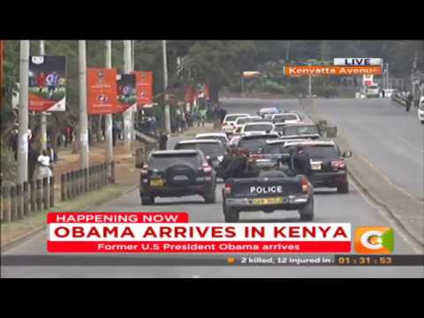 Obama arrives in Kenya #ObamaInKenya