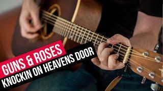 como tocar guitarra acordes knockin on heavens door guns and roses acustica facil aprende guitarra