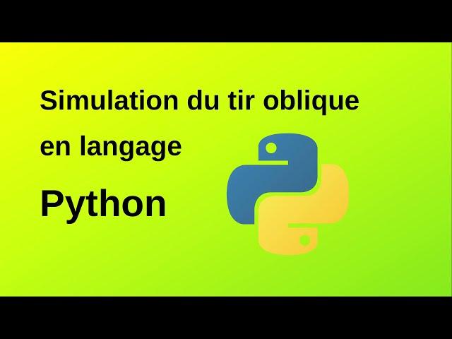 Tir oblique de tartes à la crème en langage Python 3/3