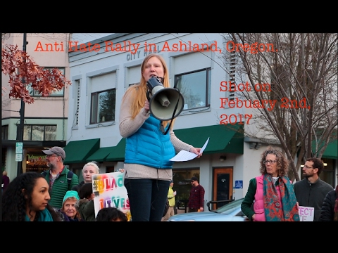 Anti-Hate Rally in Ashland, Oregon #Resist