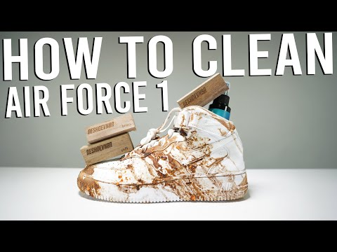 CLEANING THE DIRTIEST SNEAKERS AIR FORCE 1 SNEAKERS !!!