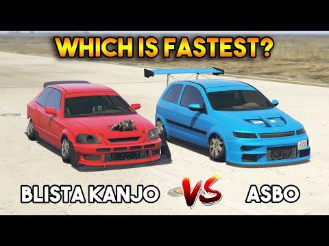 GTA 5 ONLINE : ASBO VS BLISTA KANJO (WHICH IS FASTEST)