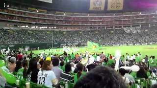 2012年09月17日の試合後にサプライズ登場.